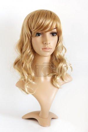 Realistic female mannequin.