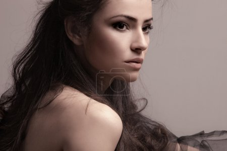 Photo for Sensual brunette woman portrait - Royalty Free Image
