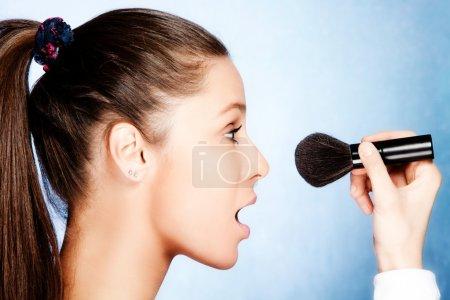 Apply makeup