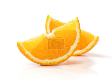 Two Slices of Orange Isolated on White Background...