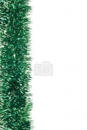 Photo for Green Christmas tinsel garland - Royalty Free Image