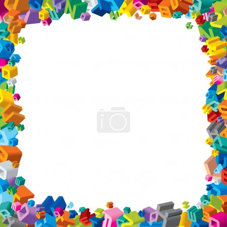 Illustration for Frame from Colorful Letters - Royalty Free Image