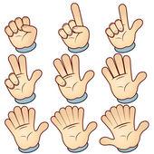 Counting Cartoon hand vector illustration