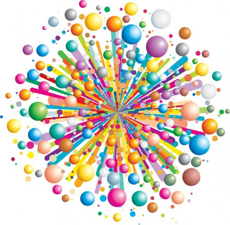Illustration for Colorful funny explosion- cartoon vector illustration - Royalty Free Image