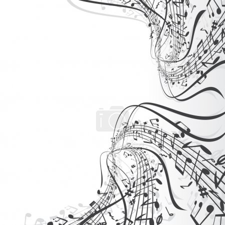 Illustration for Musical notes composition - Royalty Free Image