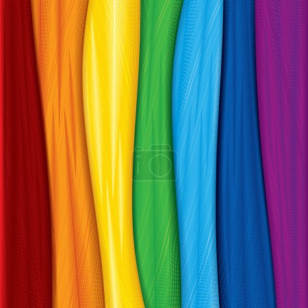 Illustration for Colorful fabric samples, vector background - Royalty Free Image