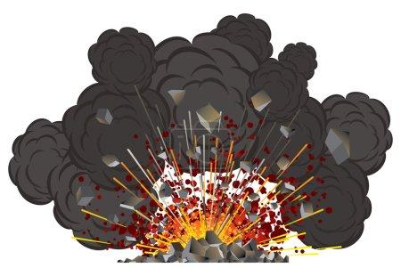 éruption du volcan