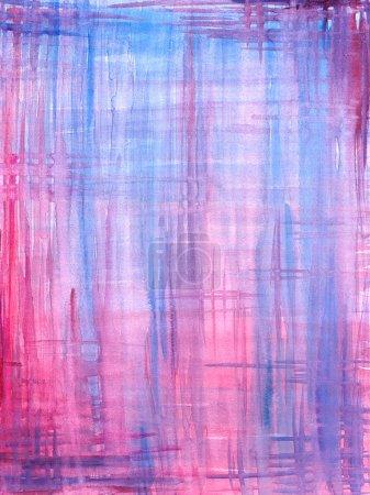 Photo pour Aquarelle fond bleu et rose peinte . - image libre de droit