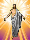 Vector illustration of the Resurrected Jesus Christ