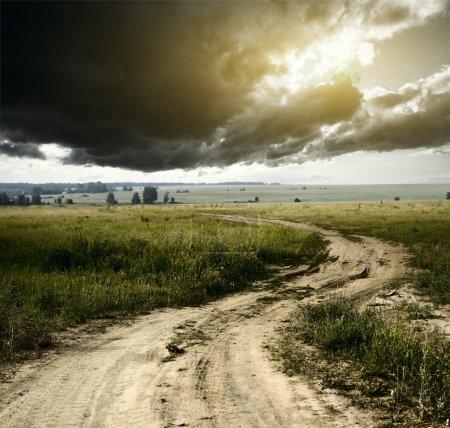 rozmazane droga asfaltowa