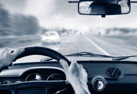 Driver's hands
