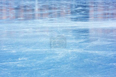 Photo for Scratched blue ice surface - Royalty Free Image