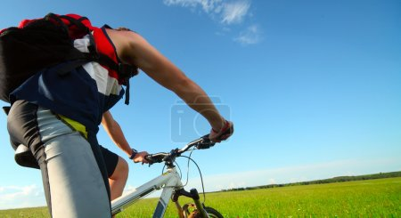 Man riding on bycycle