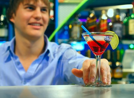 Young bartender