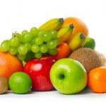 Heap of ripe tropical fruits