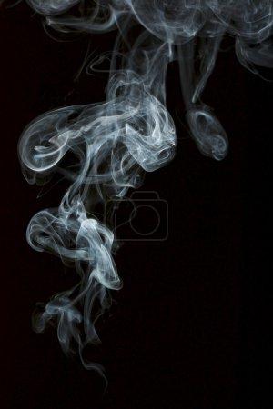 Photo for Smoke isolated over black background - Royalty Free Image