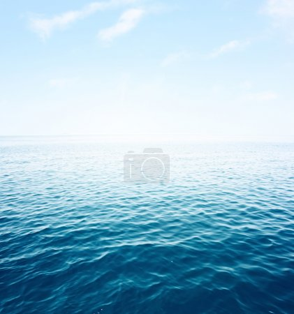 Photo for Blue sea with waves and clear blue sky - Royalty Free Image