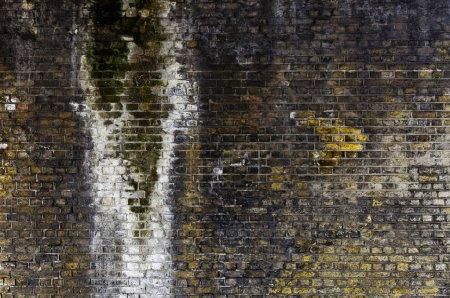 Photo pour Mur de briques patiné, fond grunge - image libre de droit