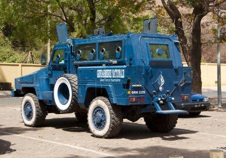 Armored police car in Bamako