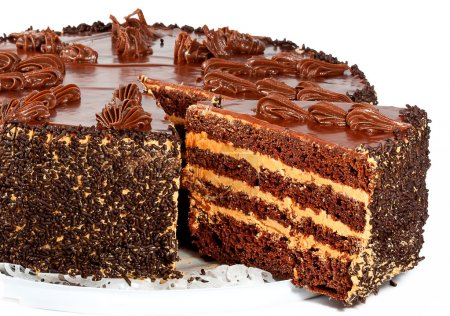 Photo for Fresh and sweet dessert cakes - Royalty Free Image