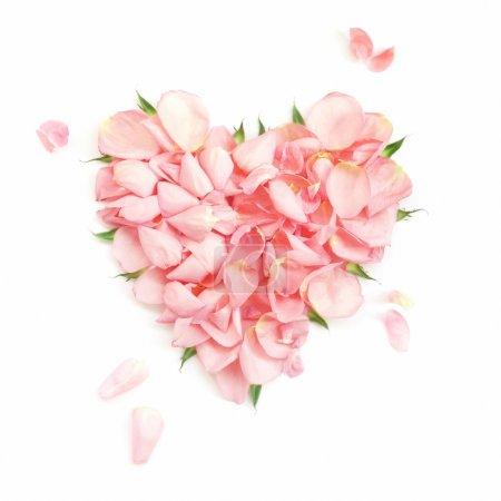 Foto de Corazón de los pétalos de rosa-más suaves - Imagen libre de derechos