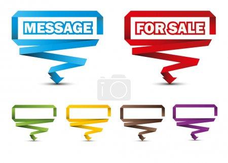 Illustration pour Pointeurs colorés, étiquettes, autocollants, esp 10 - image libre de droit
