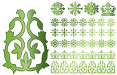 Vector Caucasus ornaments on white