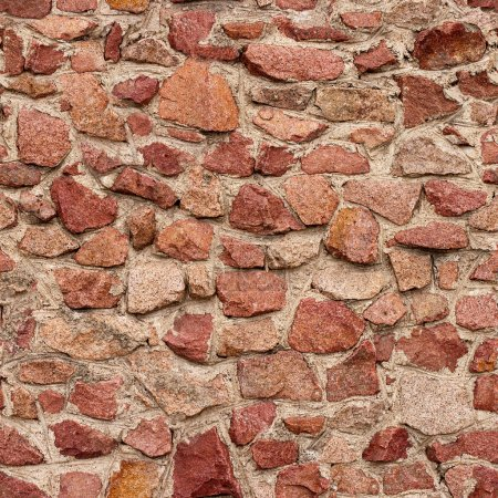 Photo for Seamless masonry wall with irregular shaped stones - Royalty Free Image