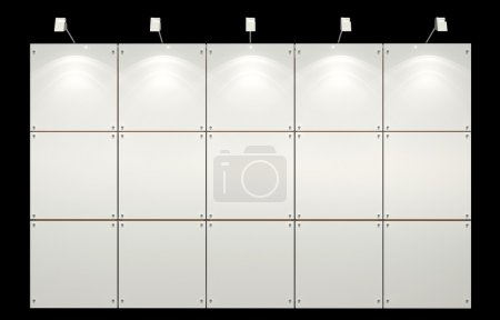 Photo pour Système d'exposition de modules vierges avec équipement d'éclairage - image libre de droit