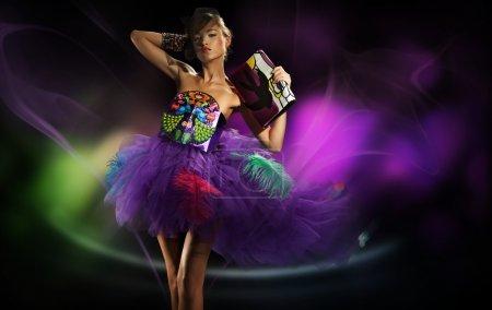 Photo pour Danse fille - image libre de droit