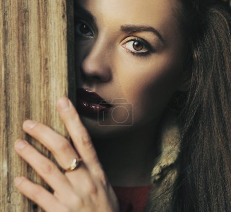 Photo pour Portrait d'une brune beauté - image libre de droit