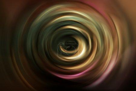Spiral curled rainbow