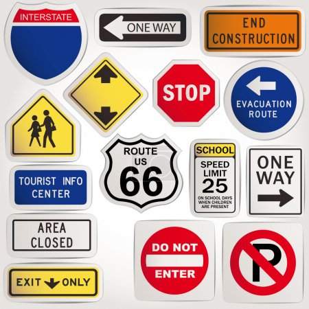 Illustration for Vector. Blank road signs - Royalty Free Image