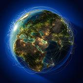 """Постер, картина, фотообои """"крупных глобальных авиационных маршрутов по всему миру"""""""