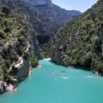 Verdon gorge at Lac de Sainte-Croix, at Aiguines, ...