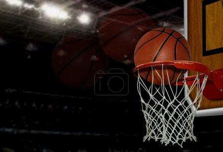 Photo pour Balle de basket - image libre de droit