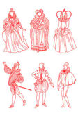 French suits of XVI age