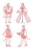 Spanish suits of epoch renaissance XVI
