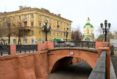 Stone bridge in Voronezh in Russia