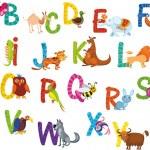 Vector illustration of a cute animals alphabet...