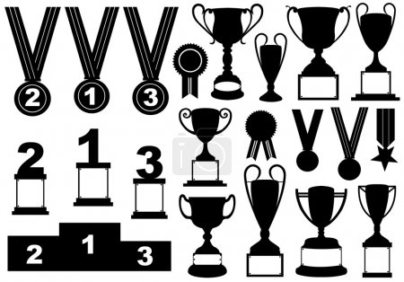 Trophies and medals set