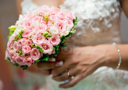 gros plan magnifique bouquet de mariée