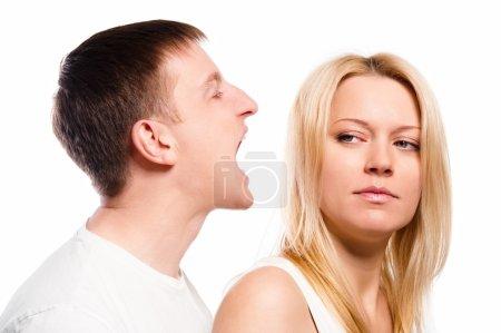 Man screaming at his girlfriend