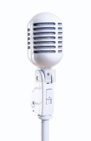 White vintage microphone