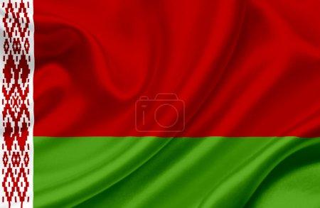 Photo pour Drapeau du Belarus - image libre de droit