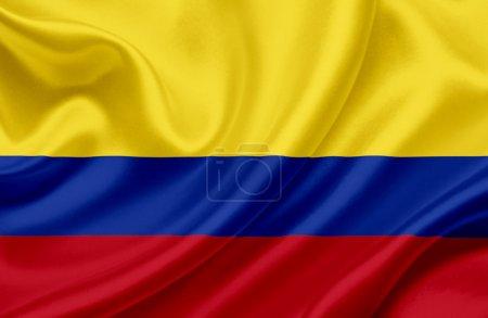 Photo pour Colombie agitant le drapeau - image libre de droit