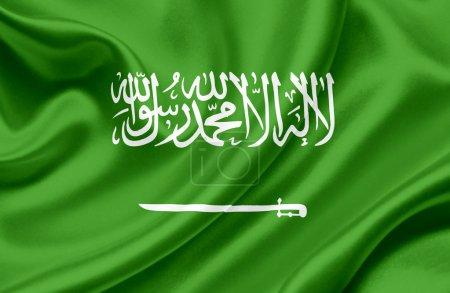 Photo for Saudi Arabia waving flag - Royalty Free Image