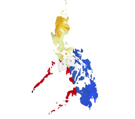 Map of Philippines isolated