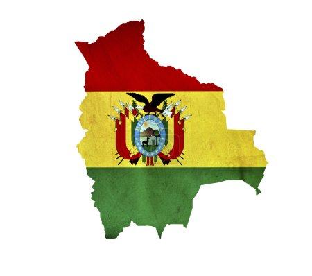Photo pour Carte de La Bolivie isolée - image libre de droit