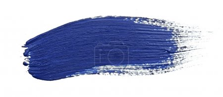 Photo for Paint stroke on white background - Royalty Free Image
